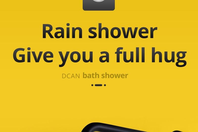 Shower System Black Rainfall Shower Head Brass Body Hand Shower Bathroom Rain Mixer Thermostatic 108 Shower Set (11)
