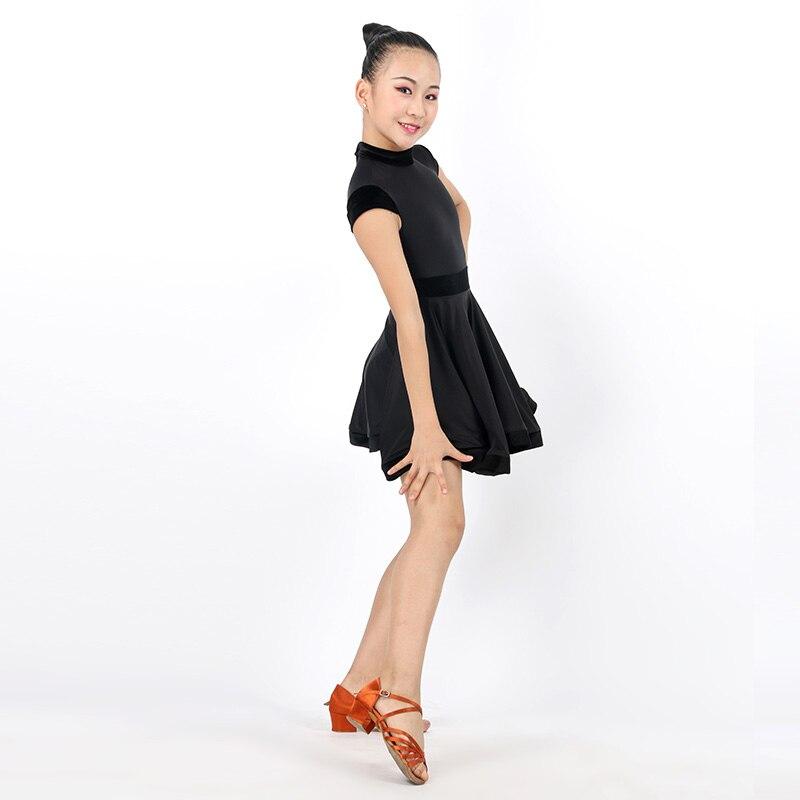 2017New Latin Dance Dress Children Girls Ballroom Dance Dresses Girl Samba Dress Modern Dance Costumes For Kids Club Dance Dress