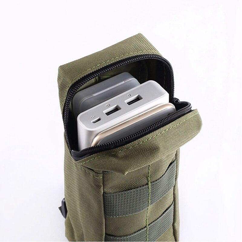 Tactische Mini Wallet Card Money Key Pack Heuptas met Gratis Karabijnhaak Camping Outdoor Waterdichte Riem Kleine Pouch