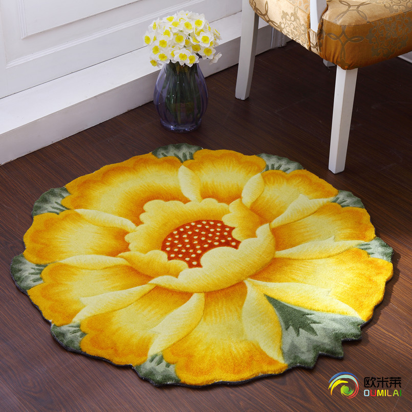 Circle carpet living room coffee table carpet mats cushion