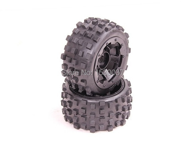 1/5 Scale RC KM RV HPI Baja 5B Buggy Knobby Rear Wheels &Tires (2) free shipping buggy sand paddle wheels fits hpi baja 5b ss 2 0