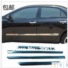 Good Quality 2007 2008 2009 2010 2011 2012 2013The new Corolla 07-13 forToyota Corolla door scuff bumper strip door trim body for nissan qashqai 2008 2009 2010 2011 2012 2013 car inner decoration trim