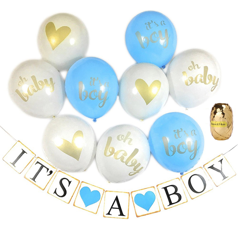 It 39 s a boy Girl Baby Newborn Shower Banner Baby Shower Party Decorations Confetti balloon set for Gender Reveal party decoratio in Ballons amp Accessories from Home amp Garden