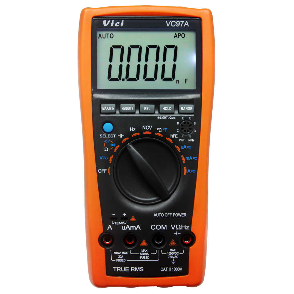 VICI VC97A 3999 Digital Auto Range True RMS Multimeter with case Replace VC97A