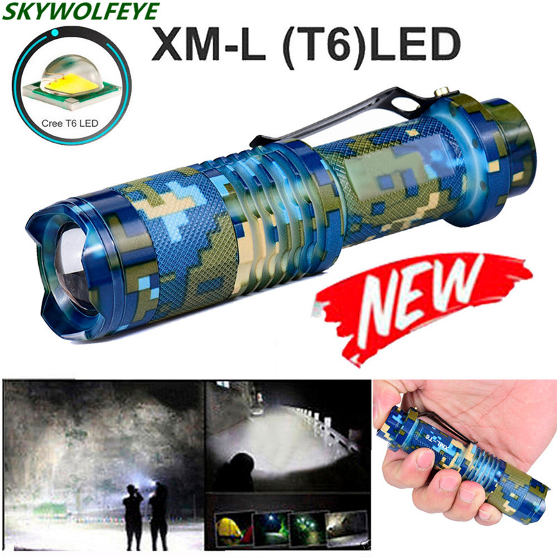 Led Flashlights Responsible Hot!! Zoomable T6 Led 5 Modes Flashlight Torch Zoom Lamp Outdoor Light Green_blue Free Shipping #no16 Led Lighting