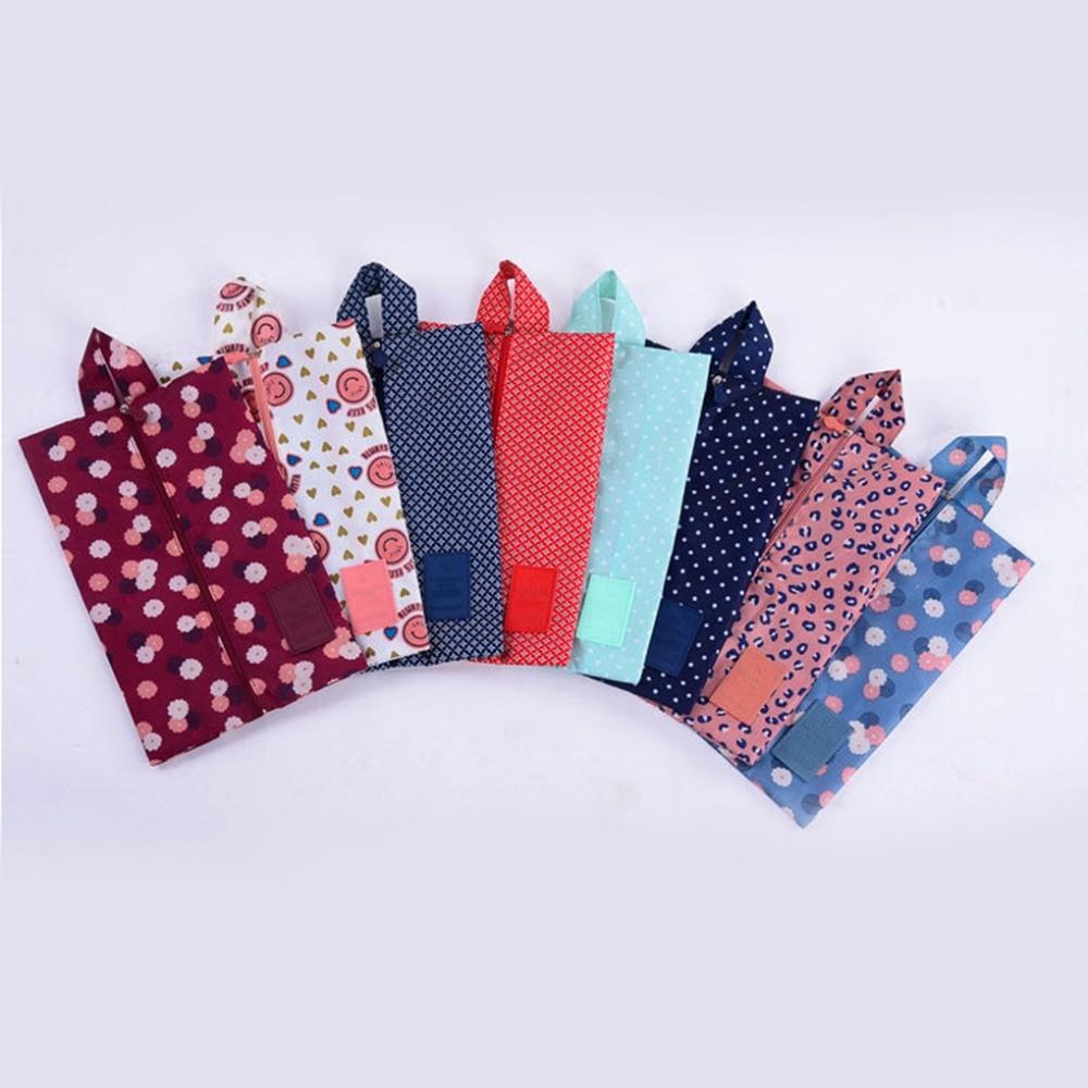 Convenient Waterproof Nylon Portable Travel Shoe Storage Bag Pouch with Zip
