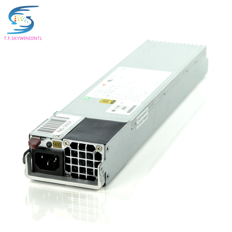 цена free ship PWS-1K41P-1R 1400W Watt High Efficiency Hot Swap Power Supply for T740 55E server psu