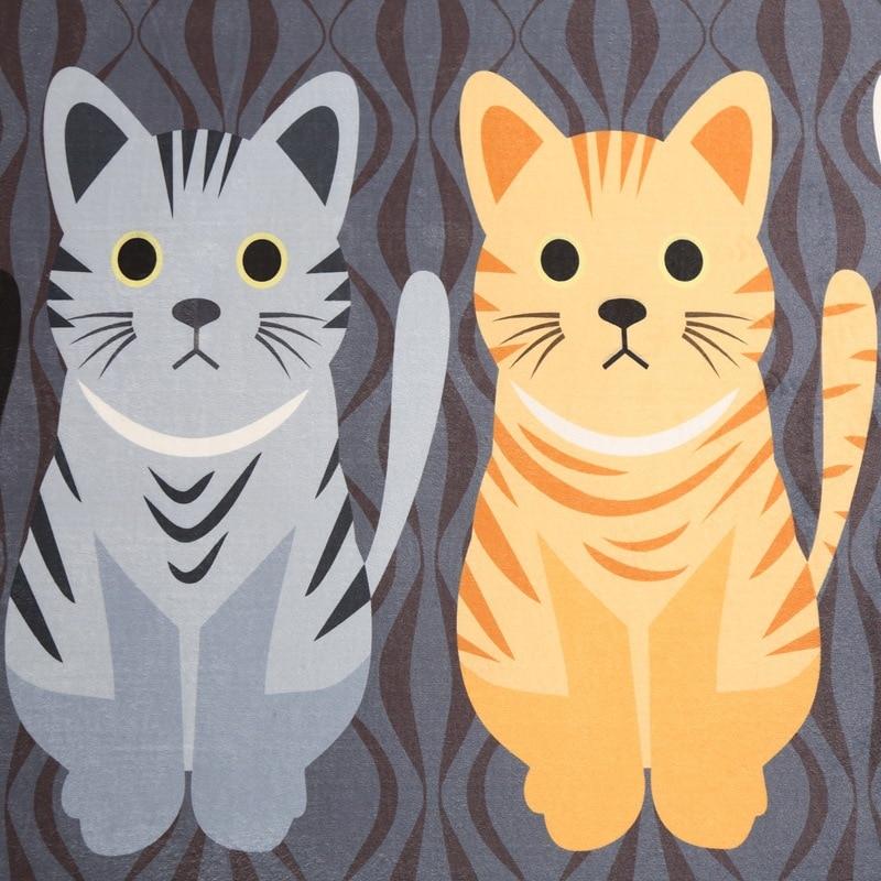 Kawaii приветствуем напольные коврики с принтом животных, кошек, ванной, кухни, коврики, коврики для кошек, напольный коврик для гостиной, Проти...