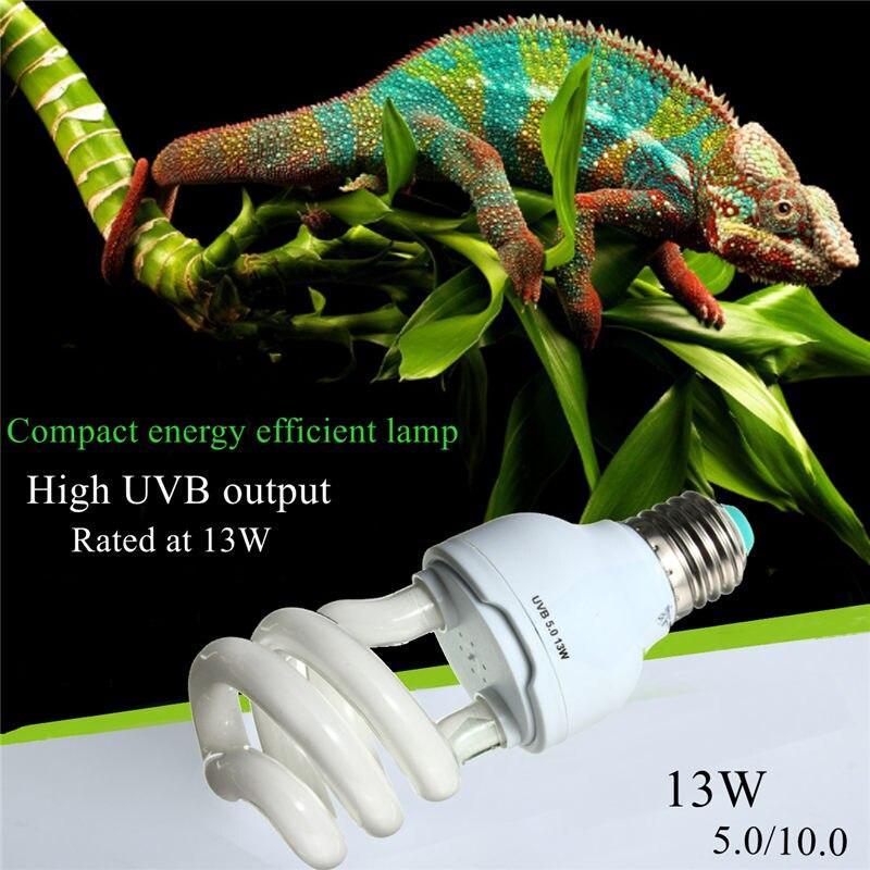 Emisor de calor bombilla ultravioleta E27 5.0 10.0 UVB 13 W mascotas reptil luz la lámpara del bulbo para tortuga peces anfibios