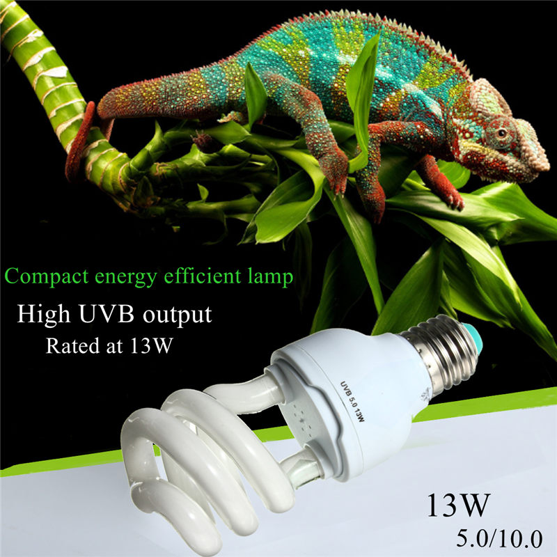 Heat Emitter Ultraviolet Light Bulb E27 5.0 10.0 UVB 13W Pet Reptile Light Glow Lamp Daylight Bulb for Tortoise Fish Amphibians breeding heat lamp tortoise insulation heat preservation light ceramic lamp light incubation cultivation light