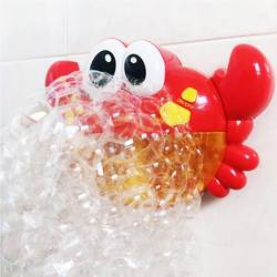 Забавная музыка Краб пузырь воздуходувы машина Электрический автоматический Краб устройство для мыльных пузырей дети для ванной открытый