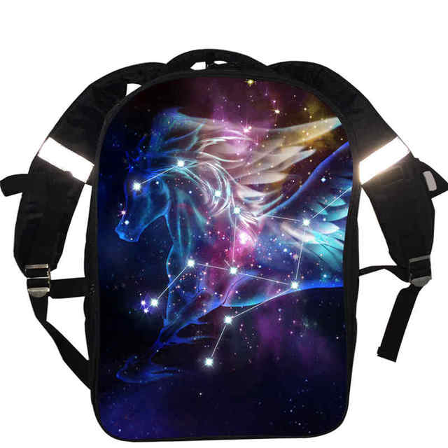 Custom Made Galaxy Horse Star Space Spacecraft Universe Backpack