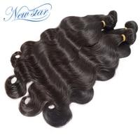 6A New Star Mixed length 4pcs/lot human hair weaves mongolian virgin body wave natural black color wholesale price free shipping