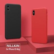 Для iPhone XS Max XR чехол Nillkin Flex чистый роскошный жидкий силиконовый мягкий сенсорный задняя крышка для iPhone XR XS Max Nilkin чехол для телефона