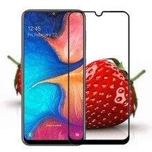 Đầy đủ Keo Đầy Đủ Bìa Tempered Glass Đối Với Samsung Galaxy A20 Bảo Vệ Màn Hình bảo vệ film Đối Với Samsung Galaxy A20E thủy tinh
