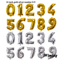 birthday numbers balloons festive party supplies children kids decoration gold silver number balloon