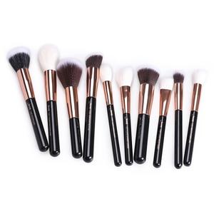 Image 2 - ג סאפ מברשות 10 pcs רוז זהב/שחור פנים איפור מברשות סט יופי קוסמטי איפור מברשת קונטור אבקת סומק