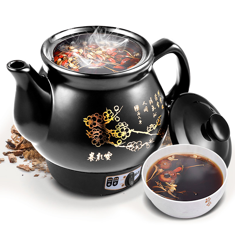 Automatic Chinese medicine pot decoction casserole ceramic health preserving pots electronic professional slow boiling machine cukyi automatic electric slow cookers purple sand household pot high quality steam stew ceramic pot 4l capacity