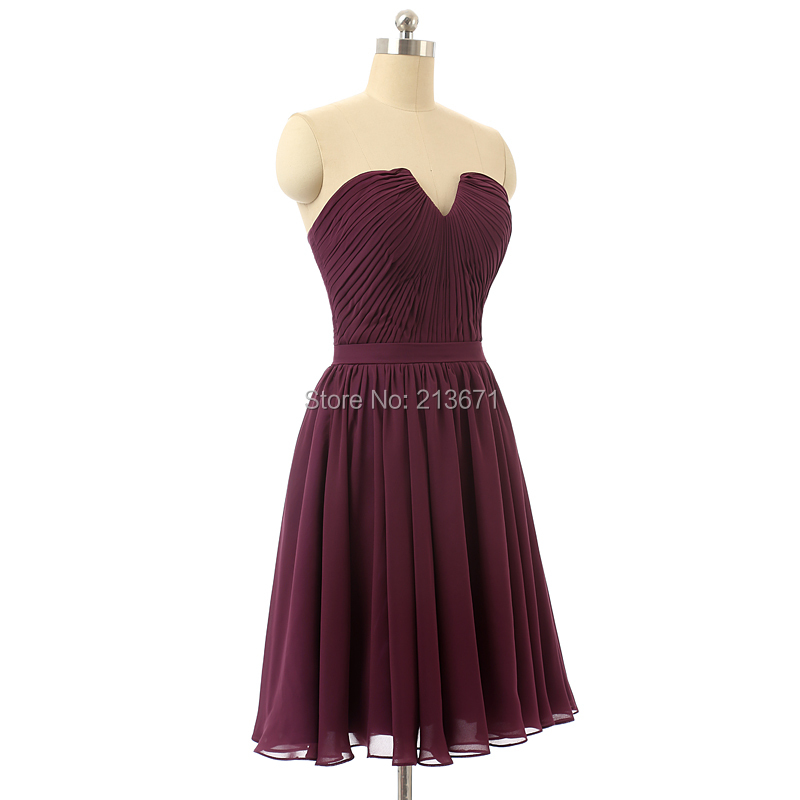 Baijinbai Elegant Purple Red Homecoming Dresses A-Line Sweetheart Crisscross Pleats Vestidos Cocktail Cute Party Dresses Gowns