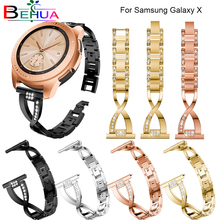For Samsung Galaxy X Watch Shape Crystal Strap Bracelet Wrist Band for 20mm Colorful S2