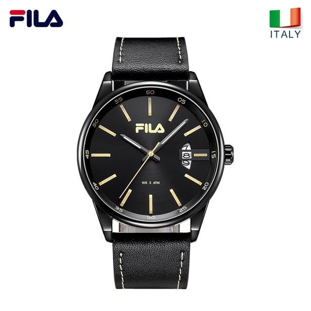 Fila watches men's quartz watch stereo scale waterproof trend fashion belt men's
