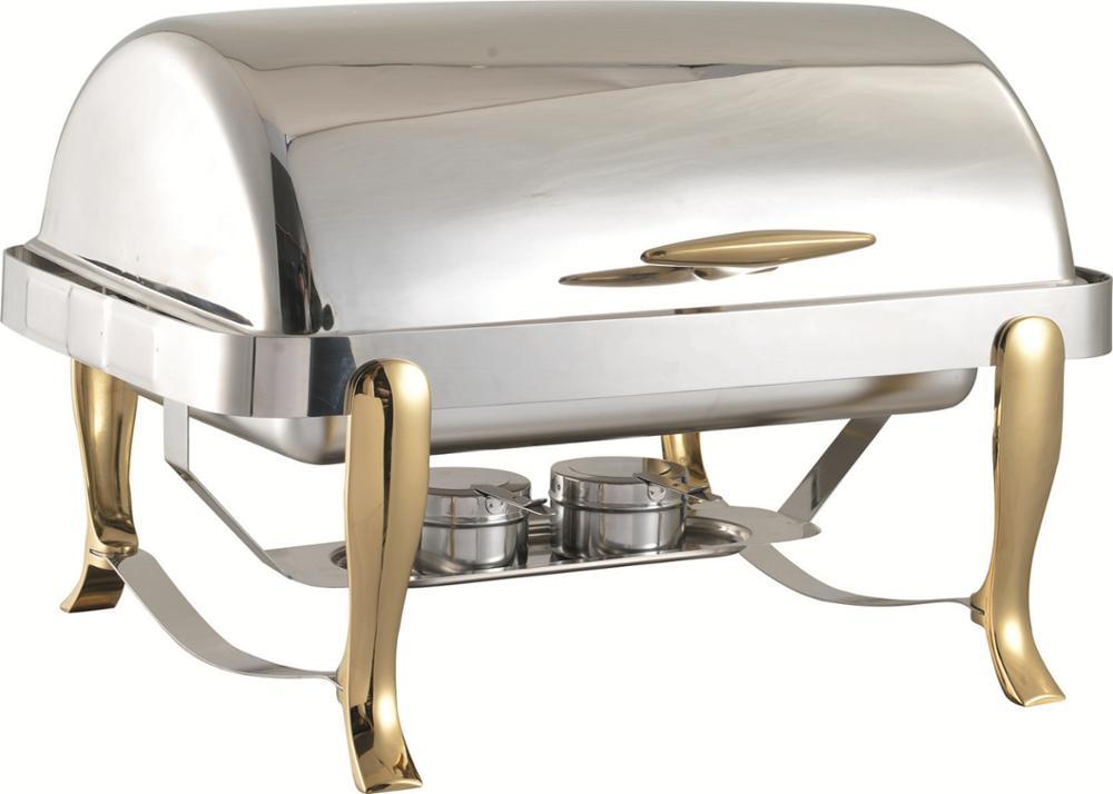 stainless steel chafing dish buffet dish gold leg panela