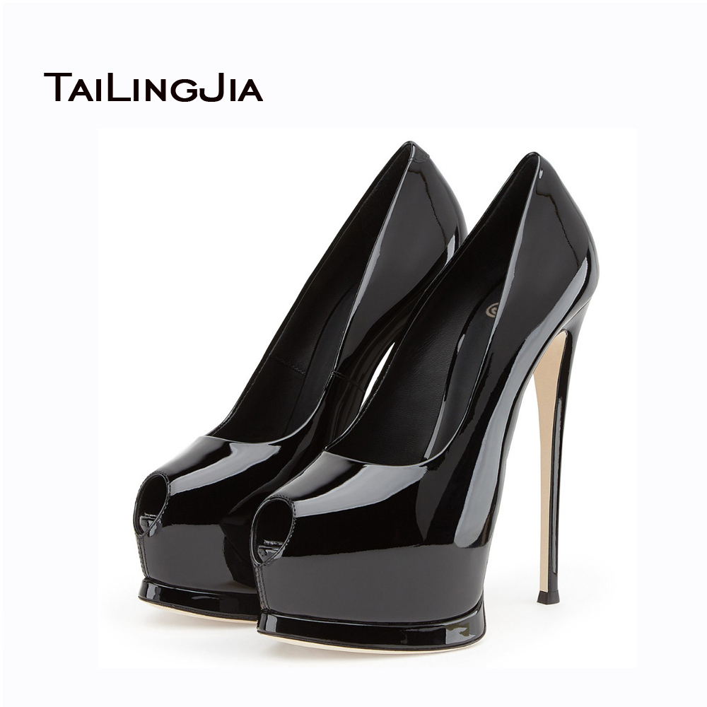 ФОТО 2017 New Sandals Women Pumps High Heels Multiple Colors Sexy Party Shoes Handmade Peep Toe High Platform Hot Sale US Size 4-15