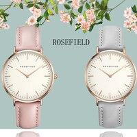 2019 Nieuwe Merk ROSEFIELD Moderne Mode vrouwen Horloges Vrouwelijke Quartz Horloge Mannelijke Casual Horloge Waterdicht Horloge Gift