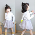Baby Girl Spring Set Hooded Top and Ball Gown Skirts 2Pcs High-end Custom Children's Baby Set Babys Clothes