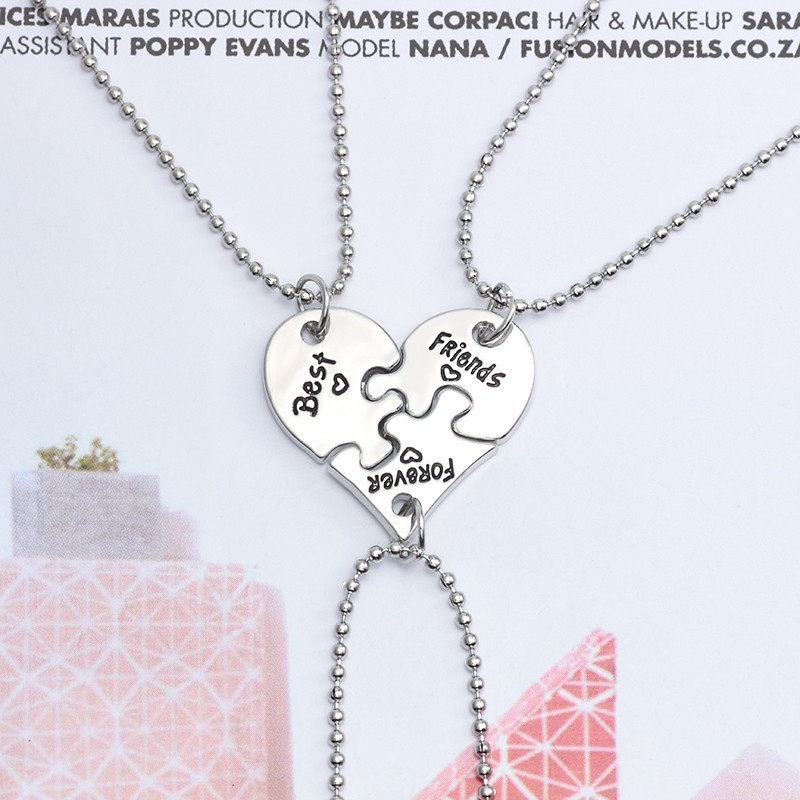BFF Jewelry Best Friend Couple Necklace BESPMOSP Long Distance Friendship Gift Keychain Gift for Friend