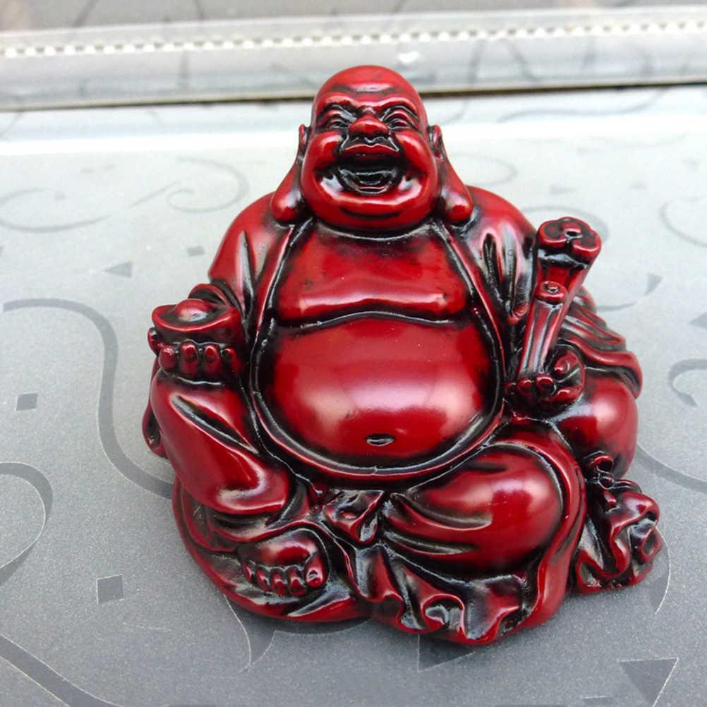 الراتنج يضحك بوذا فنغشوي تمثال Maitreya نحت على شكل بوذا الحرفية ديكور المنزل حلية تمثال