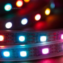 5M WS2812B 300 Led 60IC/m Pixel LED Rope 5050 Silicon tube Waterproof Programmable Addressable Dream Color LED Strip