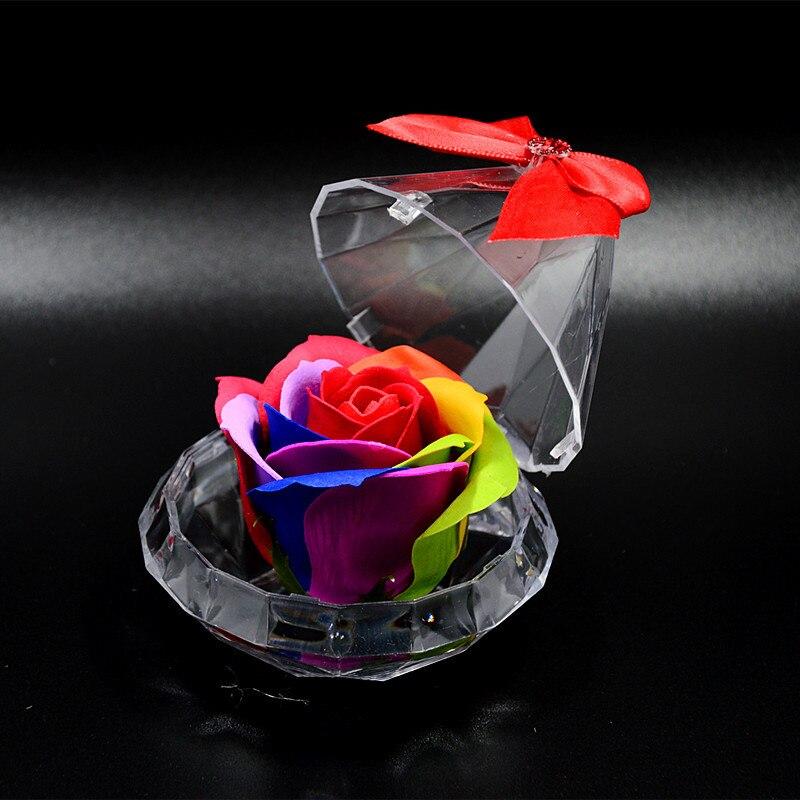 Gift-Box Wedding-Ornaments Present-Rose Diamond Lovers Soap Flower Festival Romantic