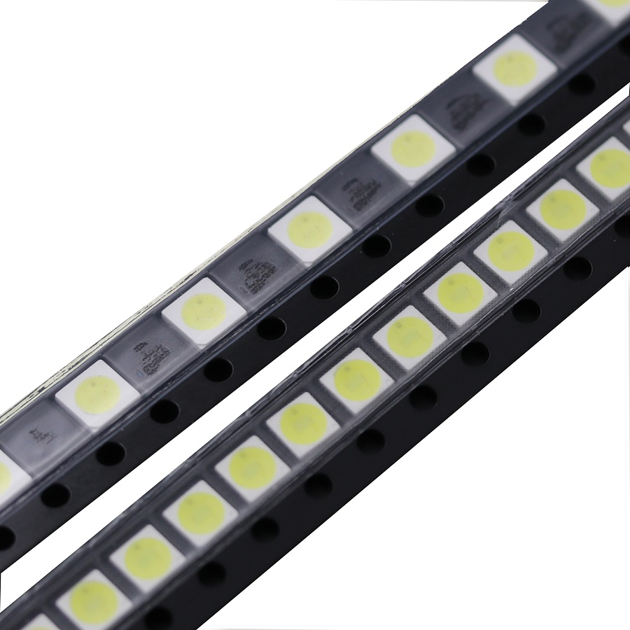 50pcs TV Backlight <font><b>Diodes</b></font> 3535 <font><b>SMD</b></font> <font><b>LED</b></font> <font><b>1W</b></font> 3V 2W 6V Televisao Cold Cool White 100lm 3535 3537 Backlit LCD Backlight for TV Repair image