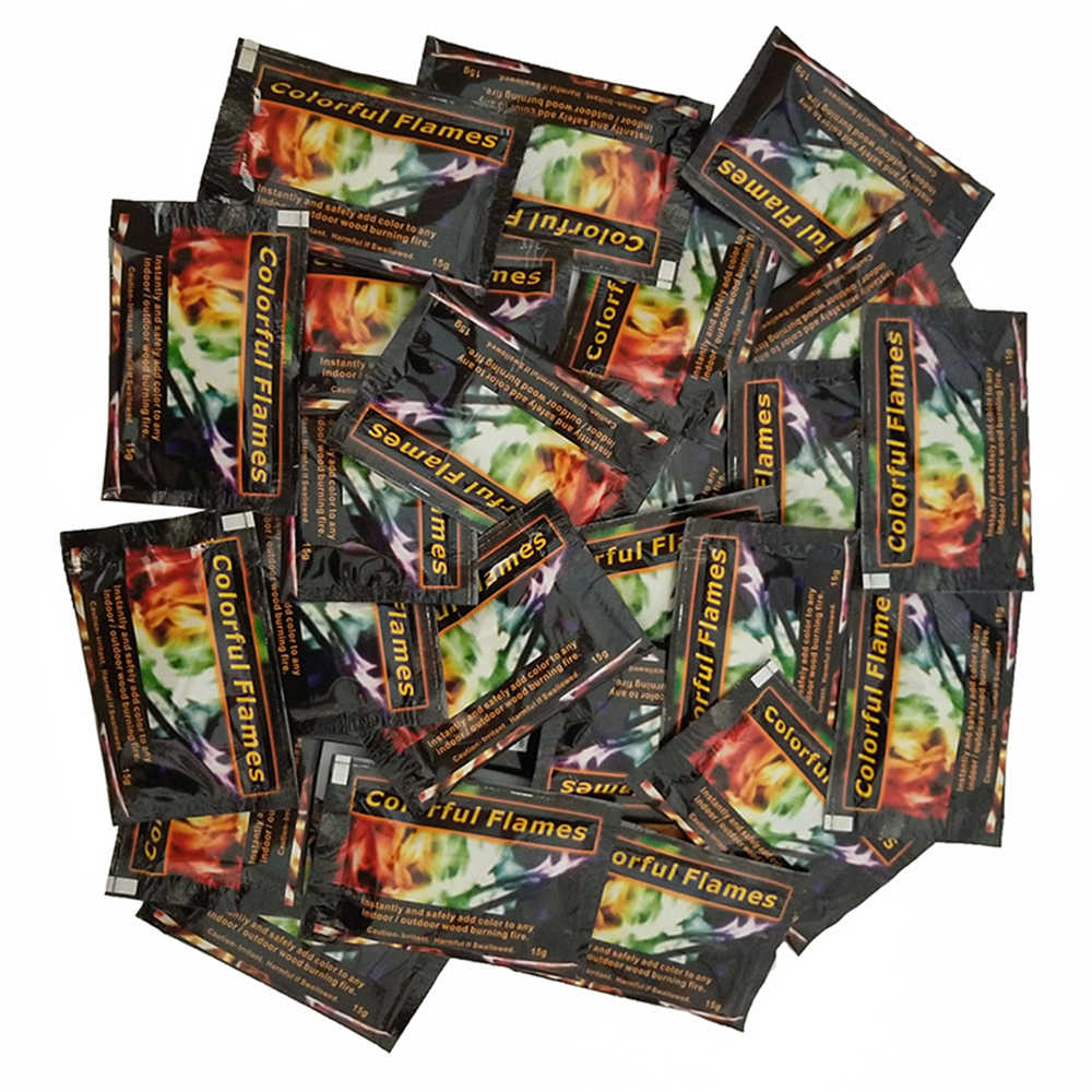 מיסטי אש קסמים צבעוני להבות מדורה שקיות אח בור פטיו צעצוע מקצועי קוסמים אשליה פירוטכניקה