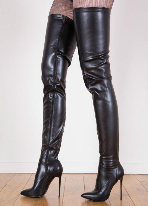 Genou Cuisse Sexy Tailles Grandes Sur Matt Pointu Bout Black Le Mince Shiny Haute Bottes Talons Femmes black Super 2018 Botte Pour Chaussures vqwEP0y