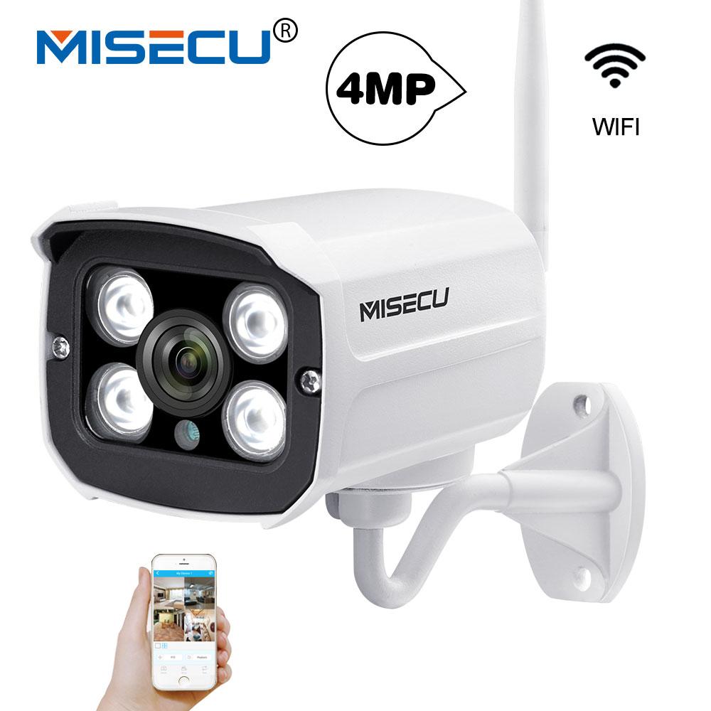MISECU 4.0MP 2.0MP IP Wifi Camera H.265/H.264 Wireless Onvif 2560*1440P P2P Wi-fi Surveillance email push Night IR Waterproof