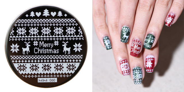 Hot 2016 Fashion Designs Christmas Nail Stamping Plates Images For