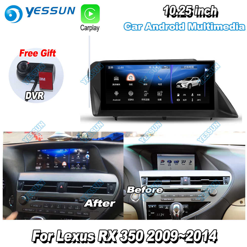 YESSUN 10 25' For Lexus RX350 RX 350 2014~2017 Car Android
