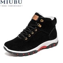MIUBU Winter Shoes Men Plush Warm 2019 Winter Boots Men Anti skidding Men Boots цена 2017