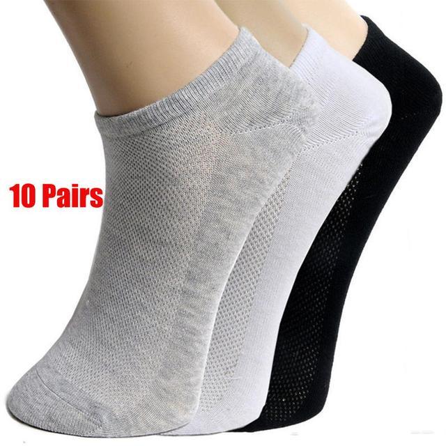 20Pcs=10Pair Solid Mesh Men's Invisible Ankle Socks HOT SALE