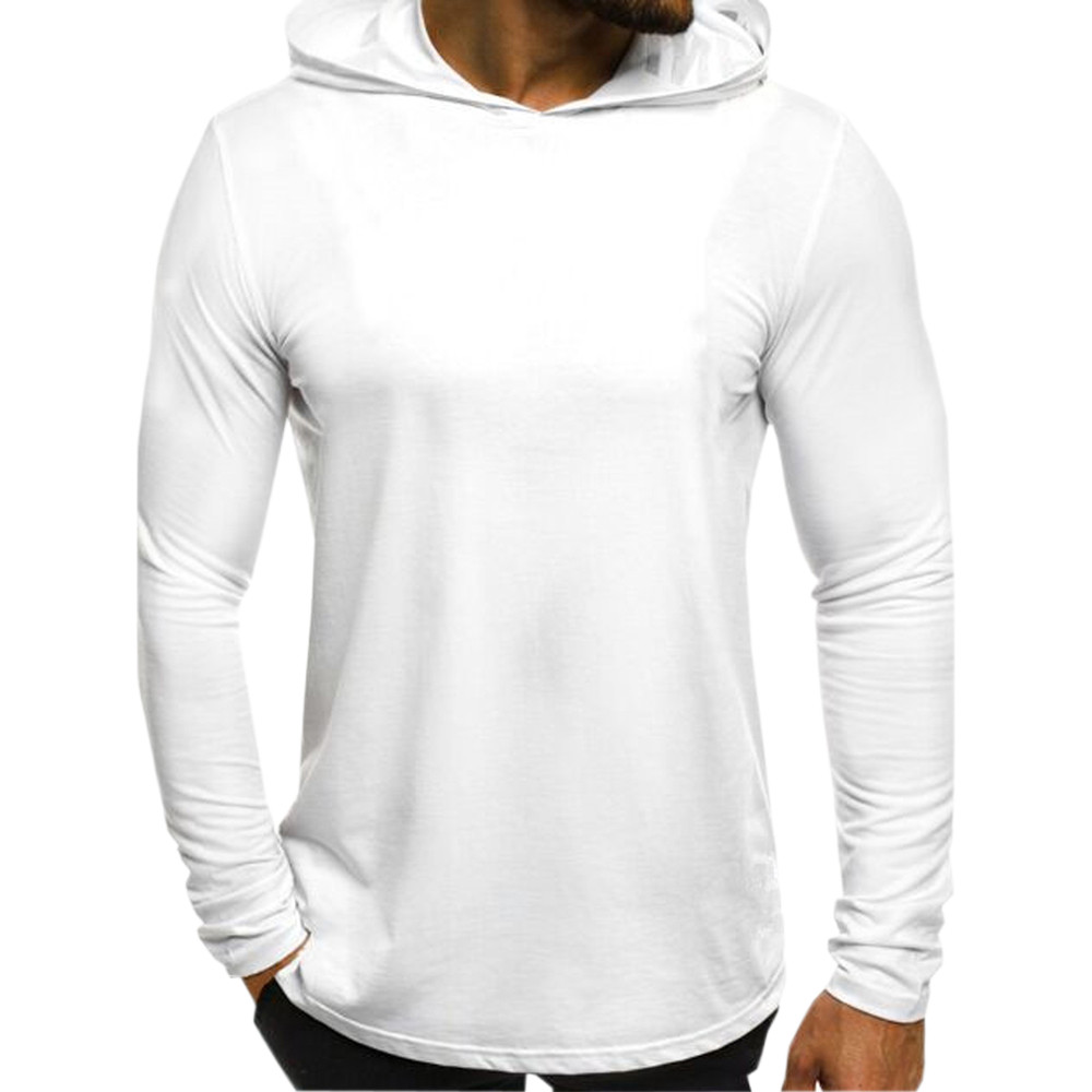 Autumn Brand Men Hoodies Sweatshirts Plus Size Long Sleeve Slim Fit White And Black Streetwear Men Hooded Sweatshirts Sudadera
