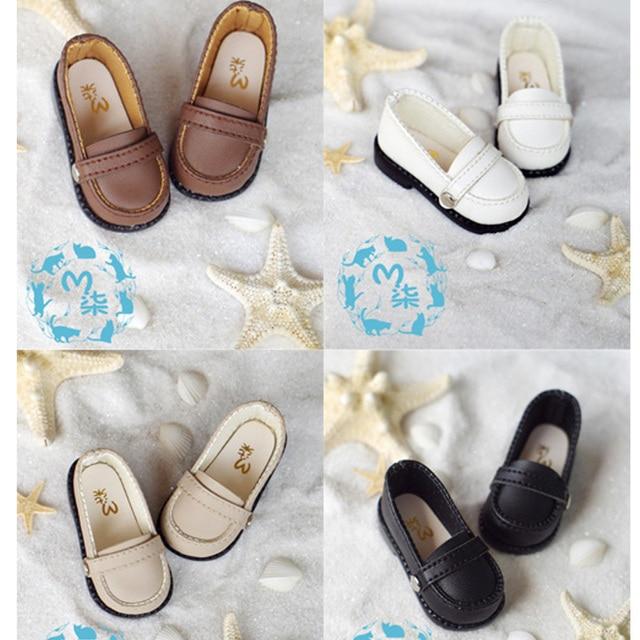 1Pair Retail SD BJD Doll Accessories 1/6 BJD Shoes Black Brown