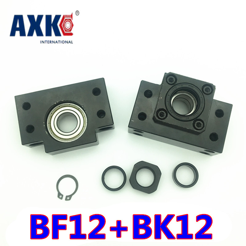 Free shipping BK12 BF12 Set : one pc of BK12 and one pc BF12 for SFU1605 Ball Screw End Support CNC parts 1 pc for epson dx2 color print head free shipping test one by one