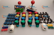 Arcade parts Bundles kits with illuminate button,LED bulbs,holders,fixing nuts, player buttons, joystick,microswitch for cabinet