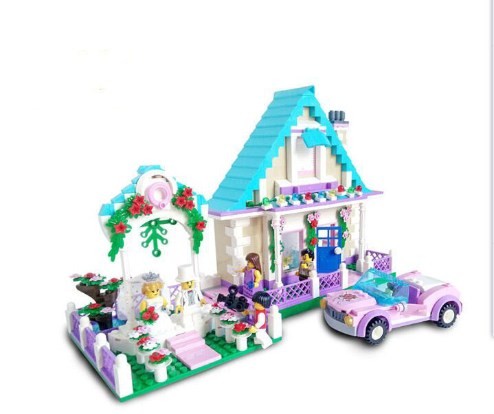 Enlighten City Marriage Room Villa Wedding Bride Bridegroom Assembling Building Block Bricks Set Compatible With Legoe China free shipping happy farm set 1 diy enlighten block bricks compatible with other assembles particles