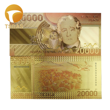 New Chile 20.000 Pesos Golden Banknote In Colors 24k Gold Plated Plastic Waterproof Bills 10pcs/lot Drop Shipping