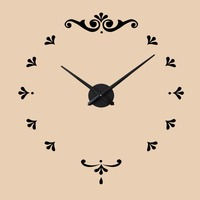 DIY 3D Mirror Clock Wall Hanging Frameless European Style Watch Living Room Home Decorations Crafts 1pc