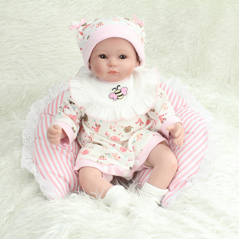 45CM Personality Silicone Reborn Baby Dolls For Girls Toys Handmade Soft Body Reborn Doll Babies For Children Creative Gift L653 18 inch dolls handmade bjd doll reborn babies toys for girls 45cm jointed plastic toy dolls for wedding valentine s day gifts