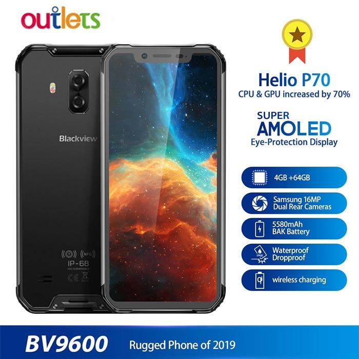 "2019 Nieuwe Blackview BV9600 Waterdichte Android 9.0 4 GB + 64 GB Mobiele Telefoon Helio P70 6.21 ""19:9 AMOLED 5580 mAh Robuuste 4G Smartphone-in Mobiele Telefoons van Mobiele telefoons & telecommunicatie op AliExpress - 11.11_Dubbel 11Vrijgezellendag 1"